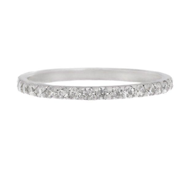 Round Diamond Claw Set Eternity Ring Wedding Band