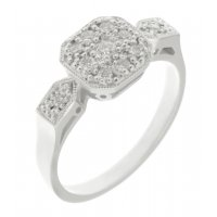 Millie Art Deco style round diamond cluster ring