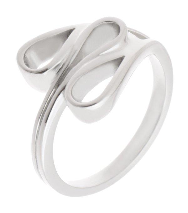 Modernist Designer Art Deco Stoneless Dress Ring