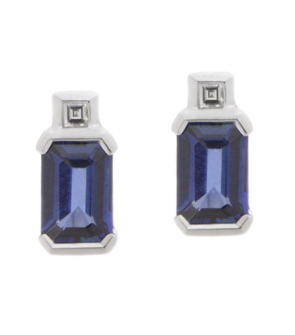 Baguette diamond earrings uk