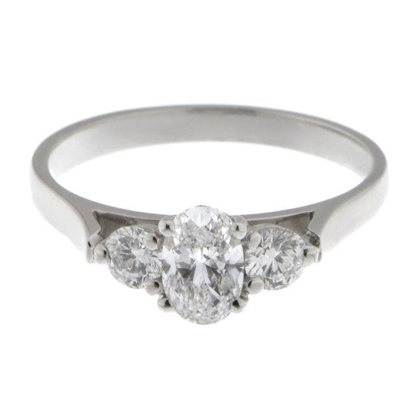 f119dc657c31f Olivia oval diamond and round brilliant cut diamond trilogy ring